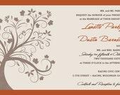 Rush Custom Listing for lonetteparkey - Rich Autumn Tree  Wedding Invitations