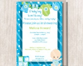Instant Download - Baby Boy Shower Invitation - Editable/Printable Invitation