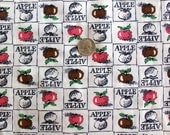 Vintage early 1990s Cotton apple print 3 yards