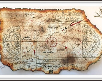 Goonies Treasure Map Print