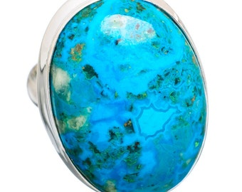 Peruvian Blue Opal Ring in Sterling Silver