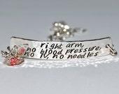 Custom medical bracelet