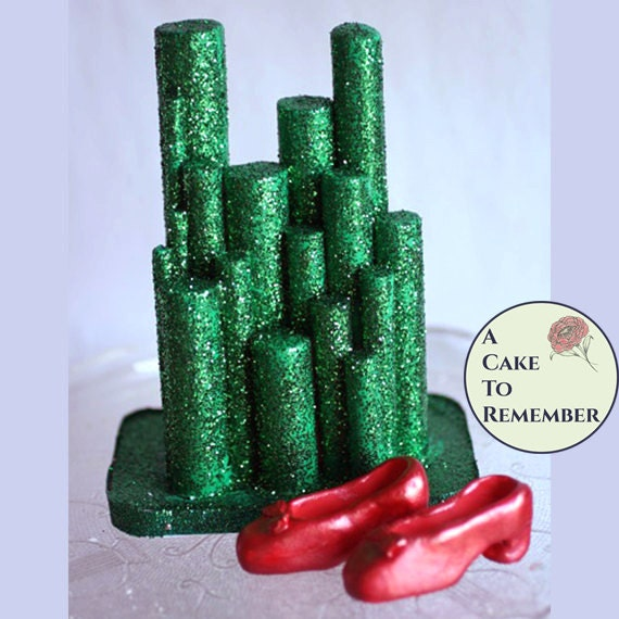 Emerald City Cake Topper For Wizard Of Oz Birthday Party