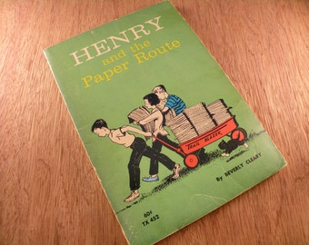 1972 vintage Henry and the Paper Route by Beverly Cleary paperback book Scholastic Book Services