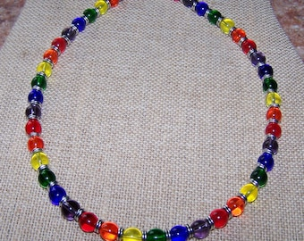 Gay Pride Necklace Rainbow Necklace