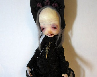 Zelda Victorian Vampire Halloween clay art doll
