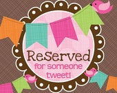 reserved for christine m