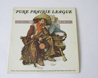 Pure Prairie League Album LP Vinyl Record 1972 LSP-4650 Norman Rockwell Album Art Cover