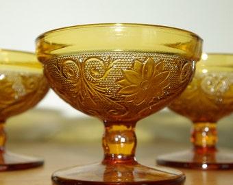 Set of Four Tiara / Indiana Glass / Sherbet / Ice Cream / Dessert Cups