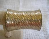 Wide Brass Cuff Roman Armour Cuff Basket Weave Brass Cuff Bracelet Vintage Cuff Jewelry Vintage Jewelry BOHO Jewelry Vintage in Paradise