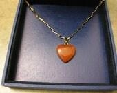 heart jasper, rose gold necklace, heart necklace, bridal shower gift, jasper pendant, jasper jewelry, valentines gift, gift for mom,