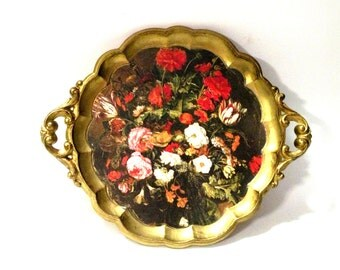 Last One- 1 Tray- Italian Florentine- Italian Toleware- Table Protection- Florentina- Gold Gilt