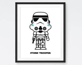 SALE Star Wars Art Printables,Stormtrooper , Star Wars Poster, Room Decor- Instant Download