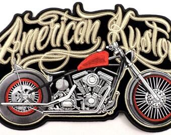 American Kustom Custom Motorcycle XL Large Back Uniform Patch New