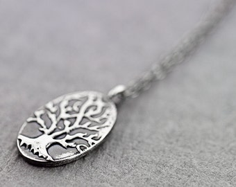 deep roots|Fine silver PMC handmade necklace