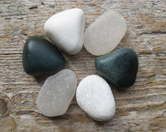 BEACH Mix GLASS and STONE Cabinet Knobs Sea Glass Knobs Drawer Pulls
