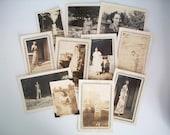 lot of 11 vintage photos . vintage black and white photo . vintage photo . paper ephemera . females . women . vintage photos for layouts
