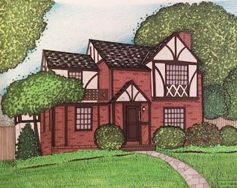 House Portrait Illustrations