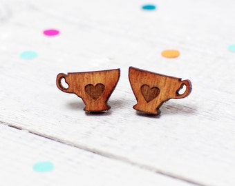 Tea Cup Earrings | Tea Jewellery | Tea Lover | Nickel Free