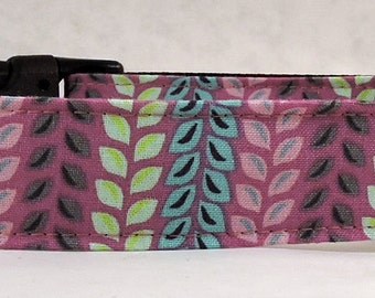 Dog Collar, Martingale Collar, Cat Collar - All Sizes  - Orchard Leaves