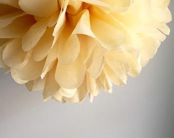 Ready to ship, Banana Creme Tissue Paper Pom Pom  Paper Poms, Wedding tissue paper poms, paper pom poms, tissue flowers, birthday party