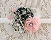 Blush Pink Flower Headband - Vintage Headband