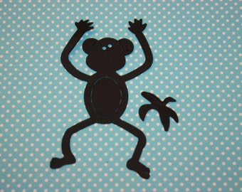 Monkey Confetti 10 CT- Die Cut- Cutout- Custom Colors Available