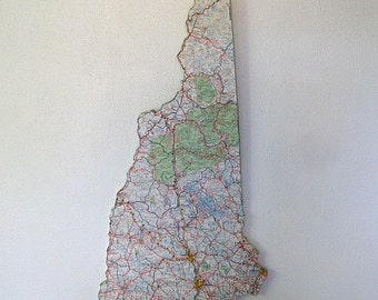 NEW HAMPSHIRE Vintage State Wall Art (Large Size)