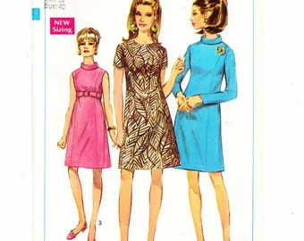 Simplicity 7432 Misses A-Line Dress With Princess Seams Size 18 Bust 40