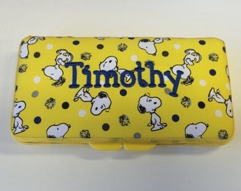Peanuts Snoopy Baby Boy Girl Wipe Case Personalized