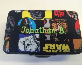 Personalized Kids School Pencil Box Case Star Wars Darth Vader Yoda Luke Skywalker