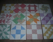 Sampler Quilt Blocks Made From 30's Reproduction Fabrics