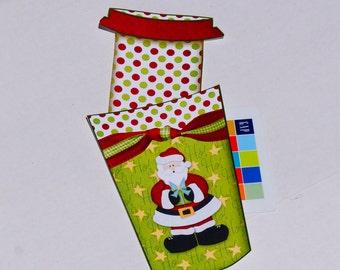 Gift Card Money Envelope, Christmas Card holder, Christmas Money holder, Gift Card Envelope, Cash holder, Gift card holder.  Set of 10