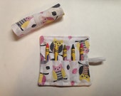 Owl Party Favor, Owl Crayon Roll. Party Favor For Kids, Kids Party Favor, Crayon Roll, Crayon Roll Up, Birthday Party Favor, Birthday Favor