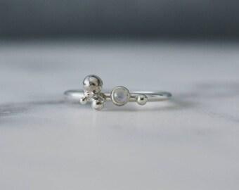 Moonstone Orbit Ring