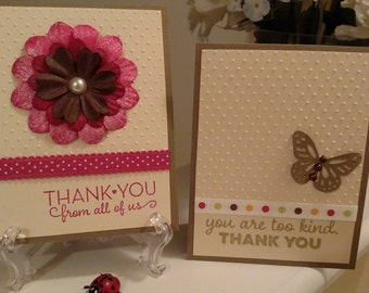 Handmade Thank You Cards - Thank You Stationary - Thanks a Melon - Assorted Thank You Cards 3.00