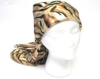 Tiger Print Scarf Long Sash
