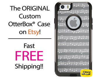 iPhone OtterBox Commuter Case for iPhone 7, 7 Plus, 6/6s, 6 Plus/6s Plus, 5/5s/SE, 5c Galaxy S7 S6 S5 Note 5 Custom Sheet Music Notes Case