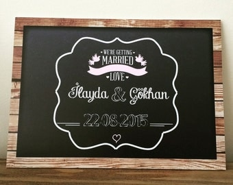 Personalized Save The Date Chalkboard Printable