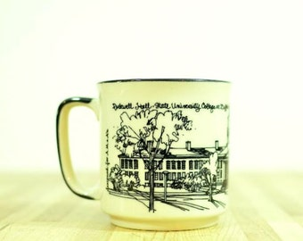 Vintage Alexander A M & A's Ceramic Coffee Mug Rockwell Hall State University College at Buffalo Japan Buffalo State Collectible Memorabilia