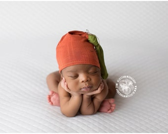 Newborn Pumpkin Knot Hat/ Fall Hat