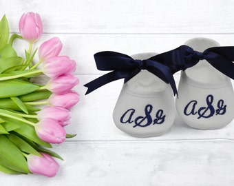 Personalized Baptism Baby Shoes- Baby Baptism Shoes- Monogrammed Booties- Baby Shoe Christening- Baby Keepsake Gift- Newborn Keepsake Gift