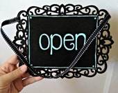 Open Closed business sign wooden