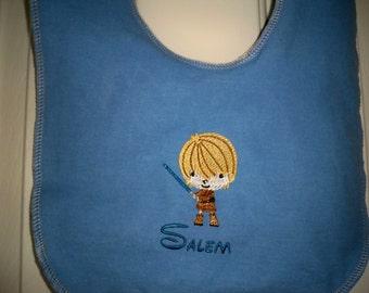 Star WArs Baby R2D2  toddler Han solor Luck Skywalker baby bib Princess toddler