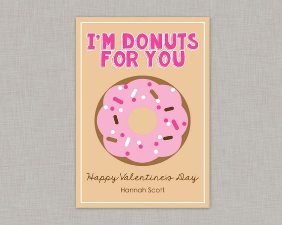 Classroom Design For Valentines Day ~ Valentine classroom cards donut card