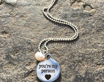 You're My Person Stainless Steel Necklace