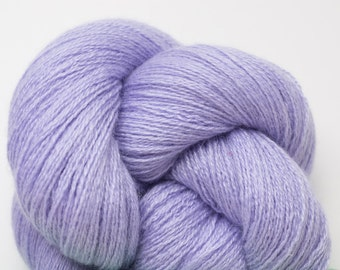 Lavender Ice Cashmere Silk Lace Weight Recycled Yarn, 2188 Yards Available