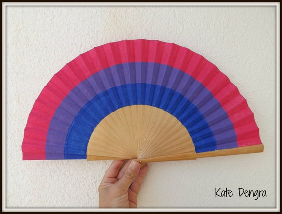 Bisexual Flag Hand Fan
