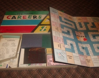 vintage family board game careers parker brothers 1955 complete