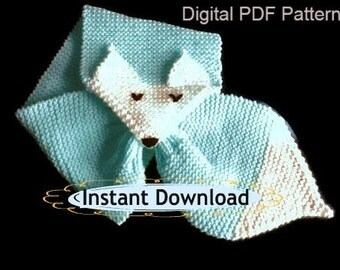 Knit Neck Scarf Pattern Ascot Knit Pattern by ToppyToppyKnits